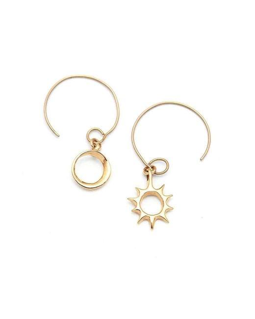 ileava jewelry - Multicolor Gold Lani Sun & Eclipse Hoop Earrings   - Lyst