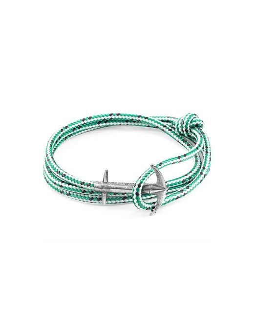 Anchor & Crew - Multicolor Green Dash Admiral Silver And Rope Bracelet - Lyst