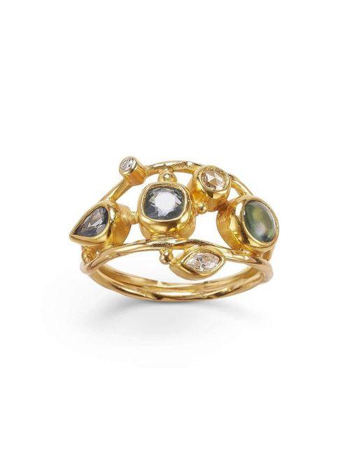 Bergsoe - Metallic Double Seafire Ring - Lyst