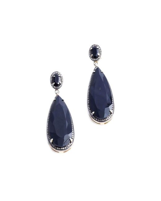 M's Gems by Mamta Valrani - Blue Dark Magic Drop Earrings With Onyx And Diamonds - Lyst