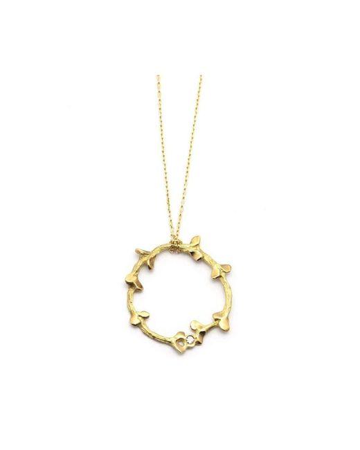 ileava jewelry - Multicolor Gold & Diamond Garni Circle Of Smiles Necklace | - Lyst