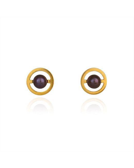 Cara Tonkin - Metallic Gold Orbit Saturn Stud Earrings - Lyst