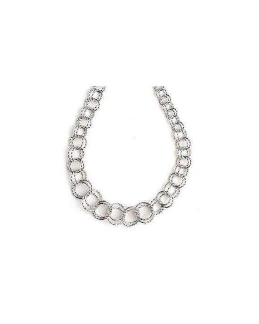 Virtue London - Metallic Interlocking Ring Necklace - Lyst