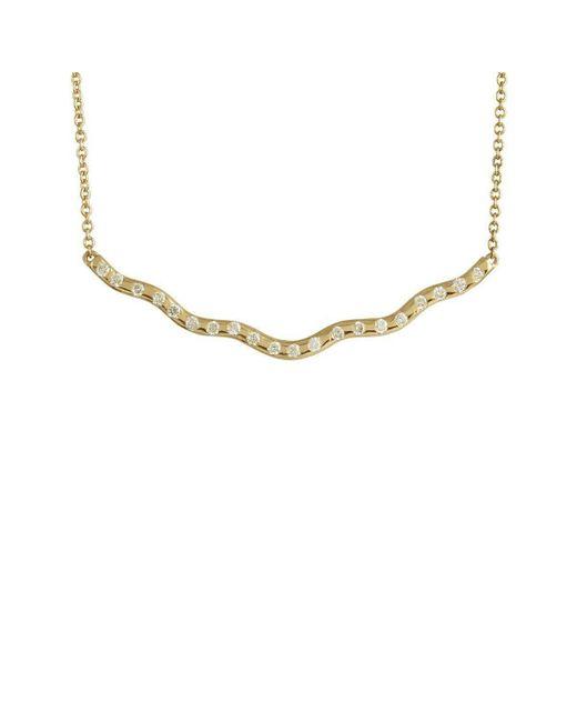 Joely Rae Jewelry - Metallic Yellow Gold Wave Diamond Necklace - Lyst