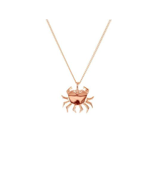 Origami Jewellery - Multicolor Crab Pink Gold Necklace - Lyst
