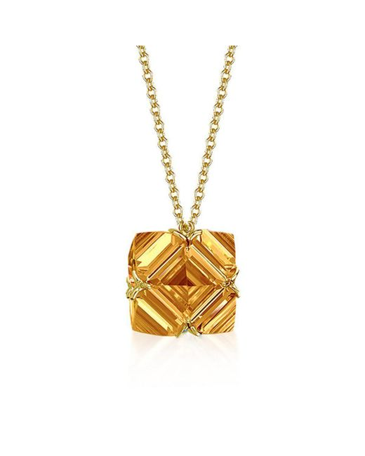 Paolo Costagli New York - Metallic Citrine Very Pc Pendant Necklace, Petite - Lyst