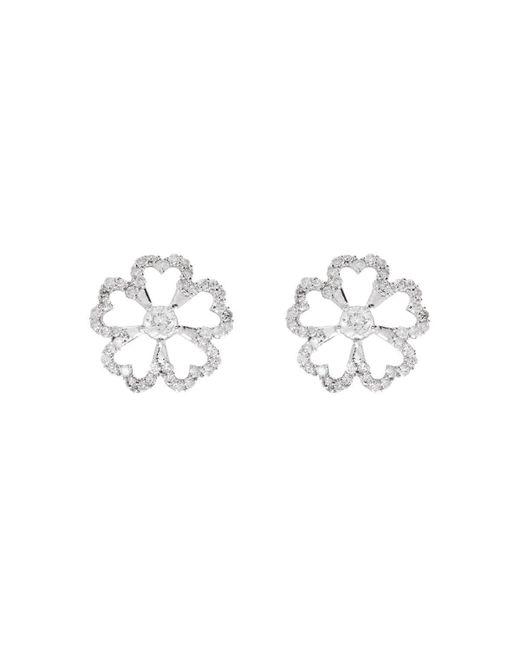 Kaizarin - Multicolor Twin Flowers Diamond Earrings - Lyst