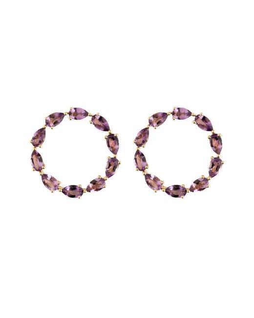 Emily Mortimer Jewellery | Multicolor Aqua Amethyst Circle Earrings | Lyst