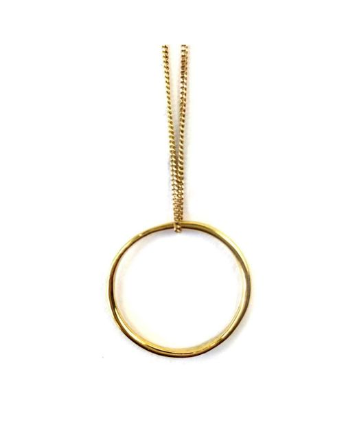 FRAN REGAN JEWELLERY | Metallic Pendant Vermeil Single Loop On Gold Chain | Lyst
