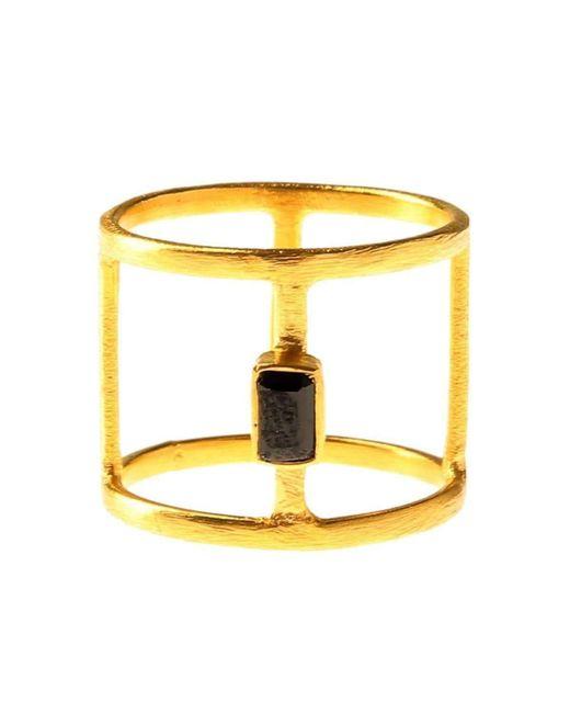 Isla - Yellow Geometric Onyx Ring - Lyst