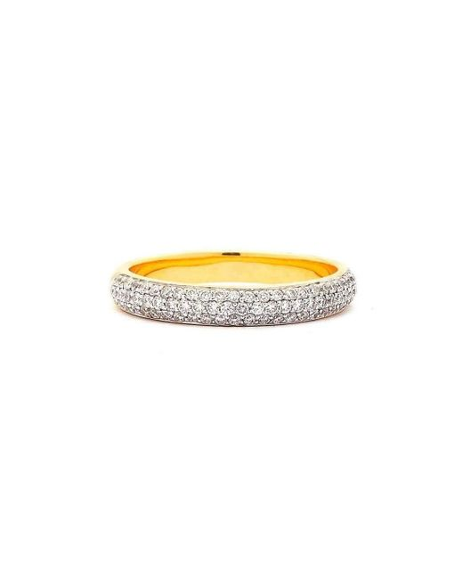 Syna 18kt Champagne Diamond Pave Band - UK N - US 6 1/2 - EU 54 XxToeV