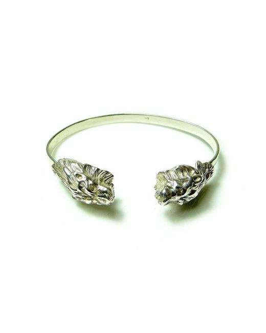 Beryl Dingemans Jewellery - Metallic Silver Lion Bangle - Lyst