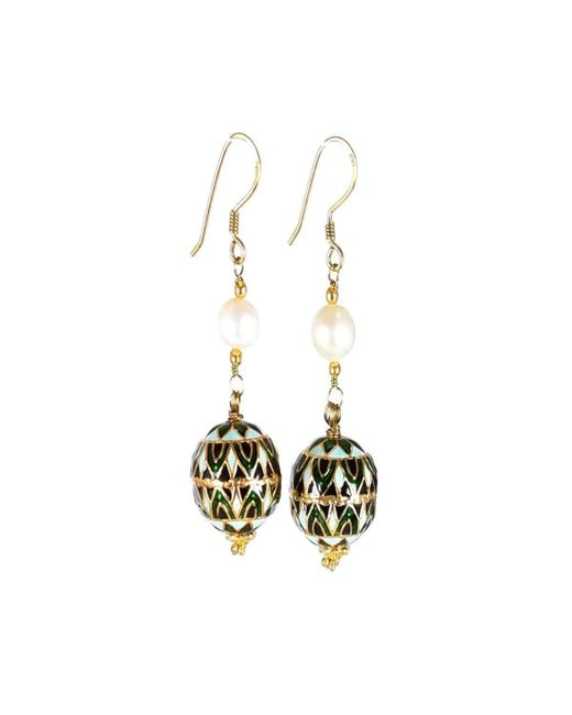 M's Gems by Mamta Valrani - Multicolor Panache Hook Earrings With Freshwater Pearl - Lyst