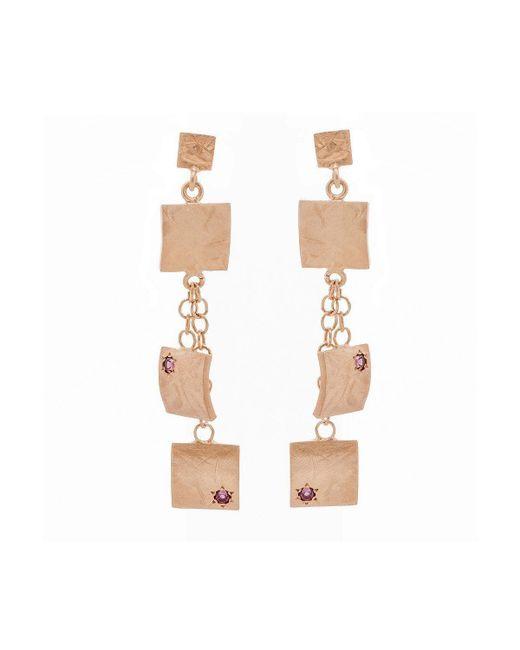 Mishanto London - Multicolor Veneto Drop Earrings With Garnet - Lyst