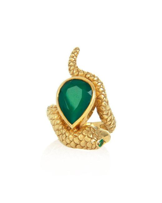 Alexandra Alberta - Metallic Arizona Green Chalcedony Ring - Lyst