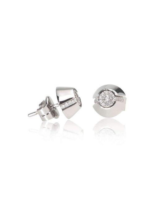 Xavier Civera - Multicolor White Gold Diamond Stud Earrings - Lyst