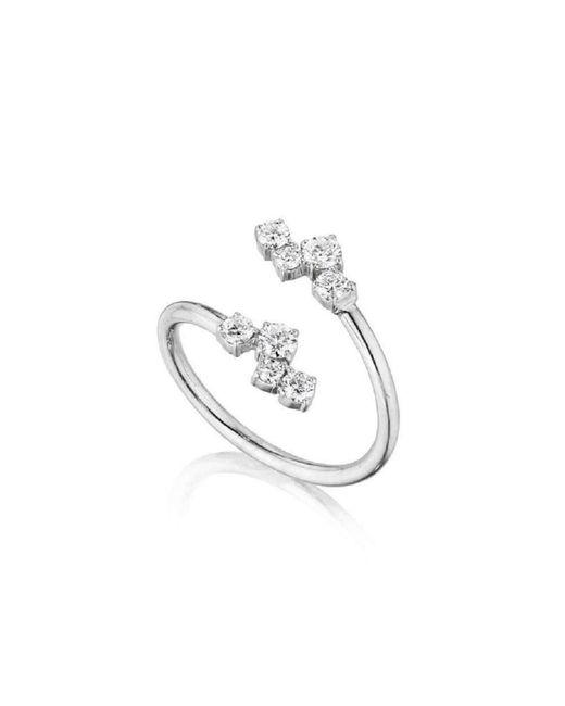 Madstone Design | Metallic Melting Ice Crossover Diamond Ring | Lyst