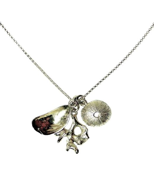 Beryl Dingemans Jewellery - Metallic Silver Chintsa Shell Necklace - Lyst