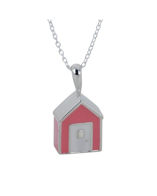 Reeves and Reeves - Pink Beach Hut Necklace - Lyst