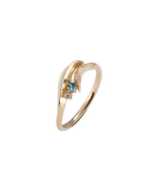 Daou Jewellery - Metallic Feather Aquamarine Ring - Lyst