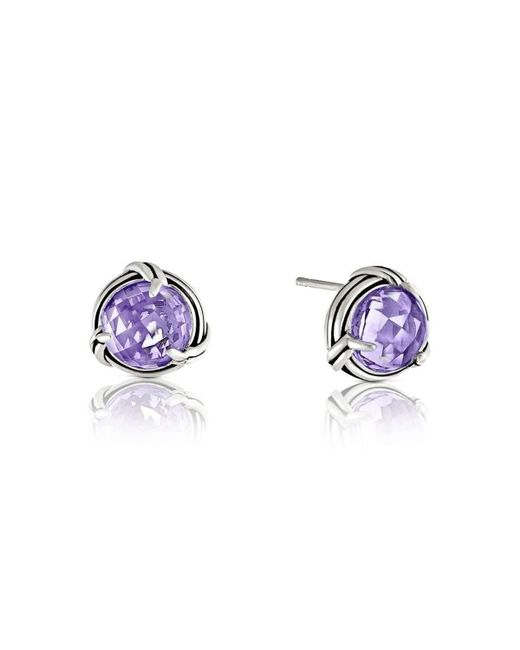 Peter Thomas Roth Fine Jewelry   Purple Fantasies Lavender Amethyst Sterling Stud Earrings   Lyst