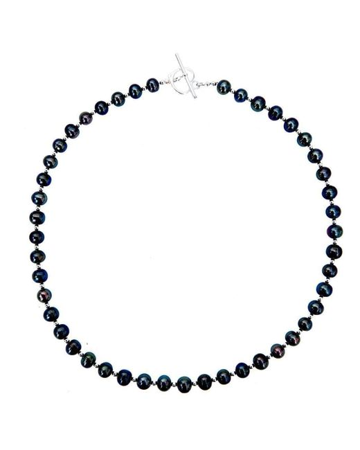 Lily Blanche | Multicolor Sterling Pearl Necklace - Midnight | Lyst