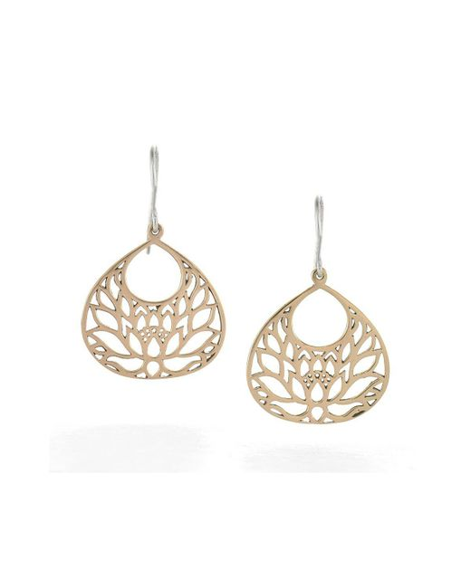House of Alaia - Metallic Small Lotus Flower Earrings In Bronze - Lyst