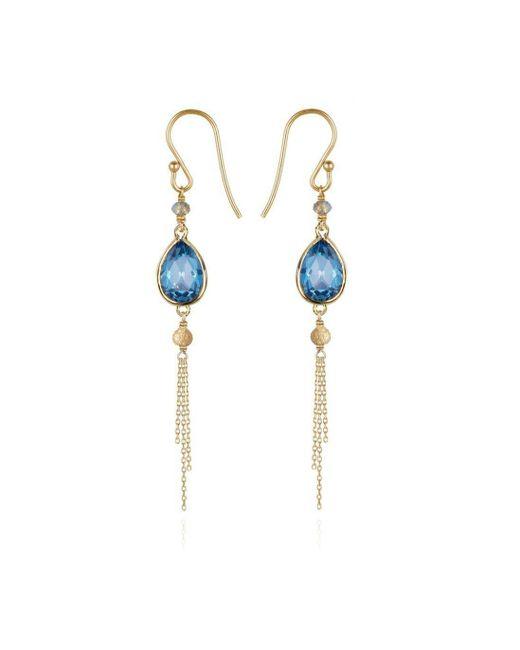 Perle de Lune - Metallic Precious Tassel Drop Earrings 18kt Gold - Lyst
