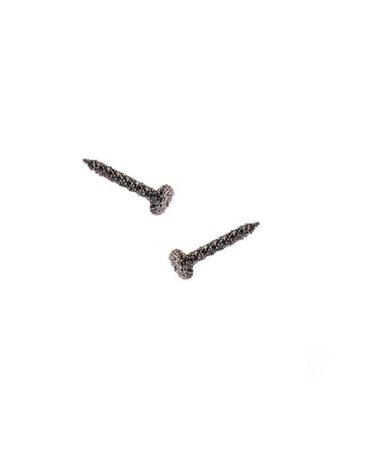 Joanna Laura Constantine - Metallic Pave Nail Stud Earrings - Lyst