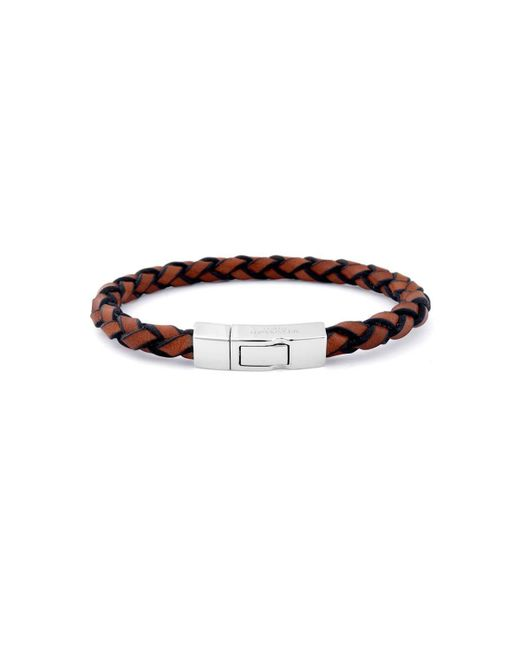 Tateossian - Brown Single Wrap Click Scoubidou Bracelet In Tan for Men - Lyst
