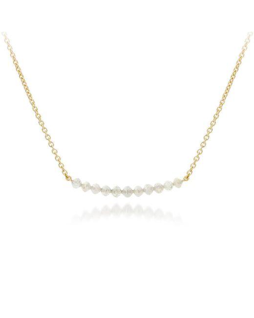 AMMA Jewelry - Metallic Gold & Diamond Drops Necklace | - Lyst