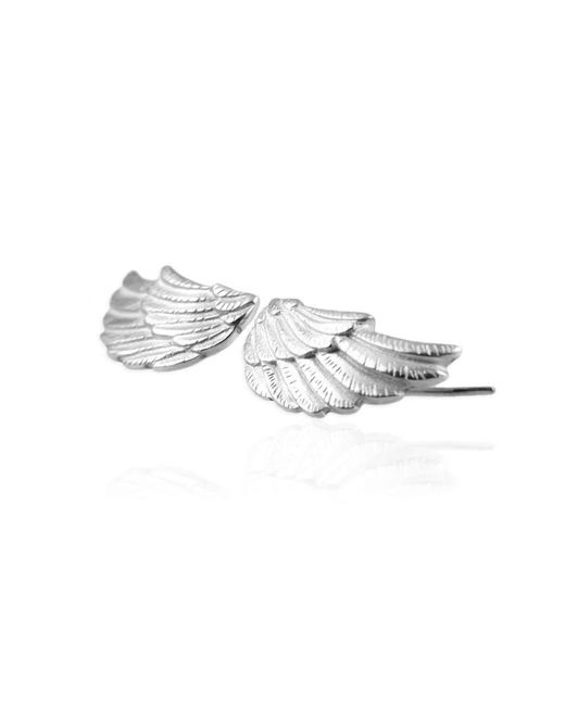 Jana Reinhardt Jewellery   Metallic Silver Wing Earrings   Lyst