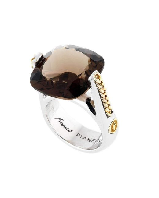Franco Piane Designed By Franco Pianegonda - Metallic Golden Drops Ring - Lyst
