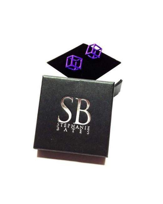 Stephanie Bates Double Cube Drop Earrings Long - 40mm aH6JhYKPj
