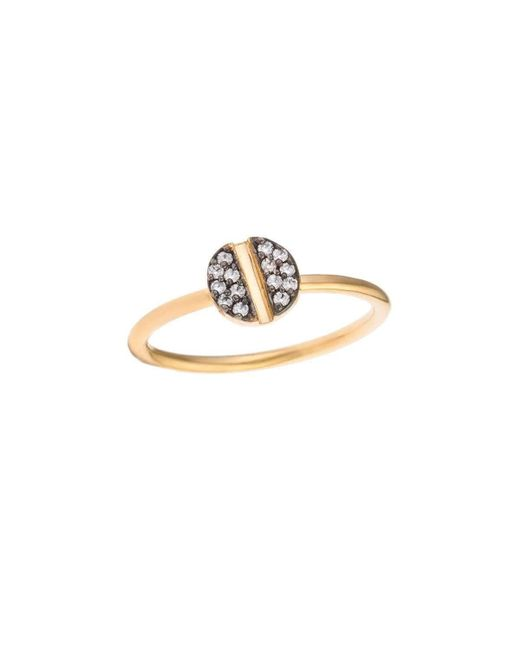 Joanna Laura Constantine - Metallic Oxidized Nail Knuckle Ring - Lyst