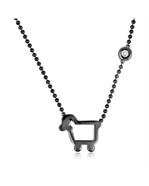 Julie Lamb - Metallic Small Signature Necklace, Dark - Lyst