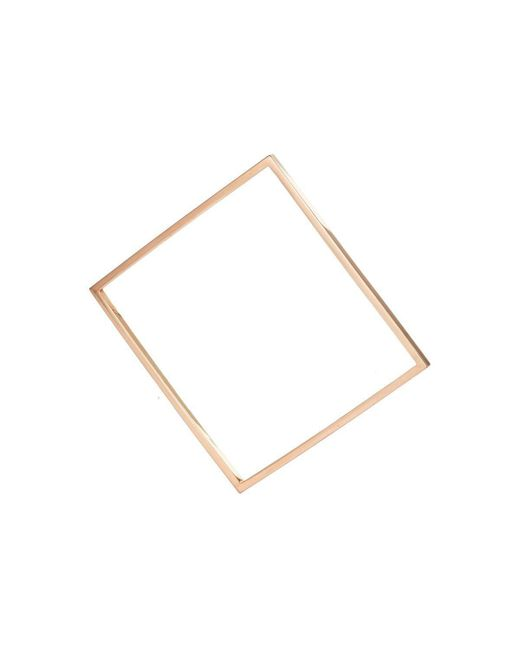 AWU Fine Jewelry - Multicolor Rose Gold Square Bangle | - Lyst