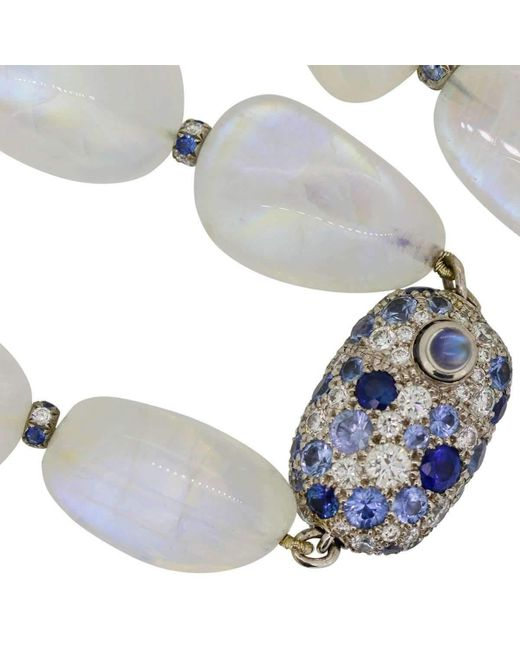 Alexander Jewell - Blue Moon Necklace - Lyst