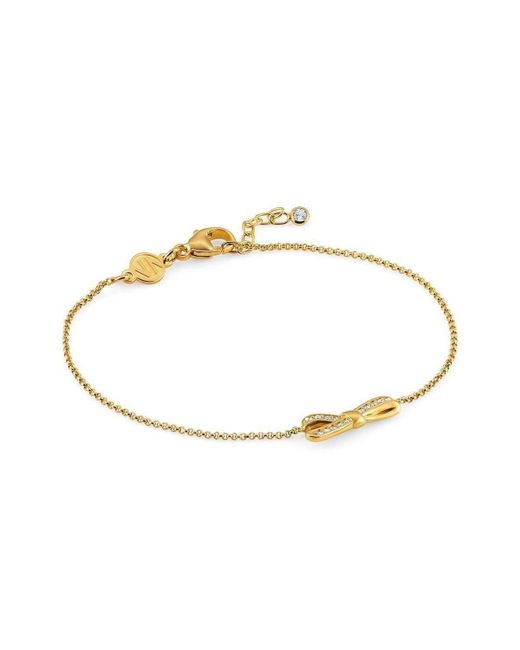 Nomination - Metallic Mycherie Bracelet With Bow And Stones Gold - Lyst