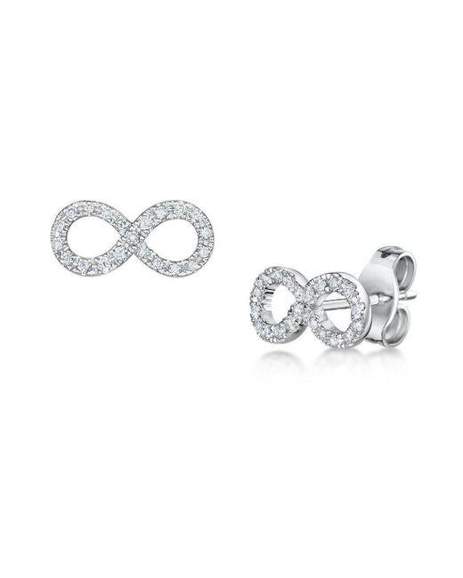 ROX - Diamonds and Thrills - Metallic Diamond Infinity Earrings - Lyst