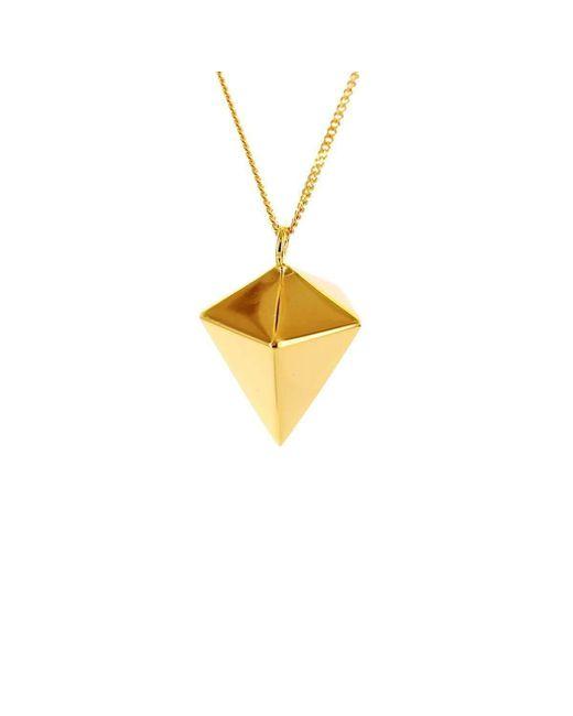 Origami Jewellery - Metallic Decagem Gold Necklace - Lyst