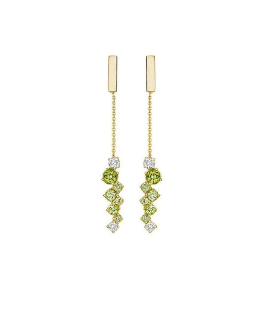 Madstone Design - Metallic Melting Ice Peridot Bar Drop Earrings - Lyst
