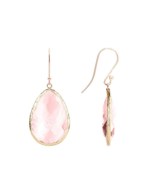 Latelita London Rose Gold Single Drop Earring Smoky Quartz GC4cWFUCd