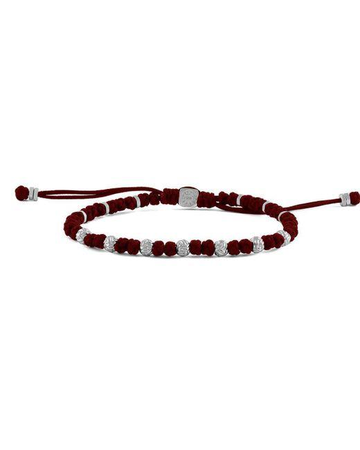 Tateossian - Multicolor Macrame Knots Silver Bracelet In Red - Lyst