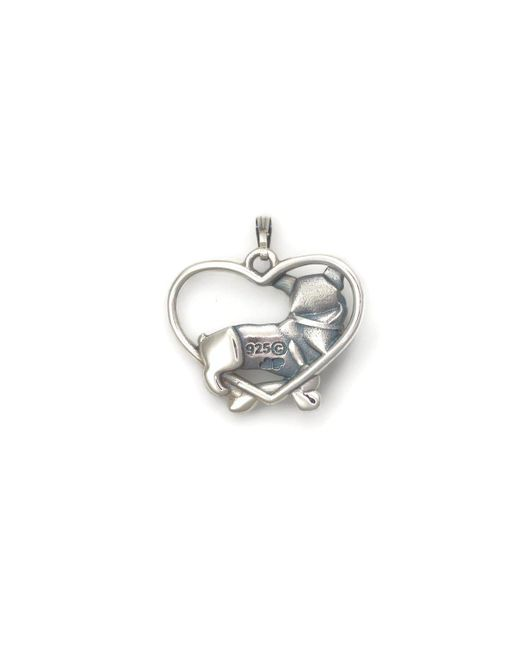 Donna Pizarro Designs Sterling Silver Pembroke Welsh Corgi Necklace 1en88G7Ao6
