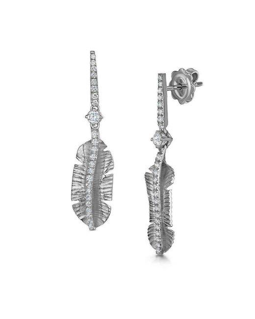 ROX - Diamonds and Thrills - Metallic Silver Tiki Diamond Earrings - Lyst