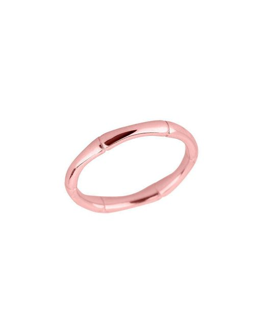 QP Jewellers | Pink Bamboo Band Stackable Ring In 9kt Rose Gold | Lyst