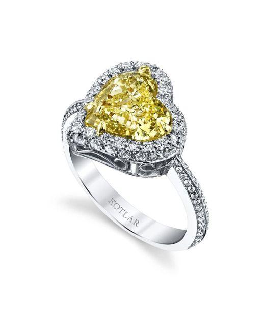 Harry Kotlar - Metallic Heart Shape Harmonie Ring - Lyst
