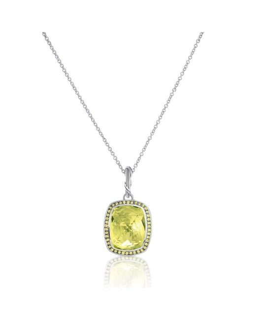 Peter Thomas Roth Fine Jewelry | Multicolor Fantasies Prasiolite-yellow Sapphire Halo Necklace | Lyst