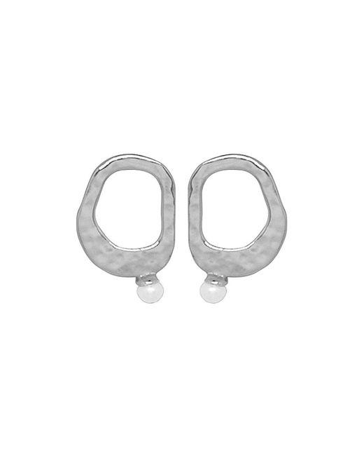 Murkani Jewellery - Multicolor Riveria Small Pearl Earrings Sterling Silver (white Pearl) - Lyst